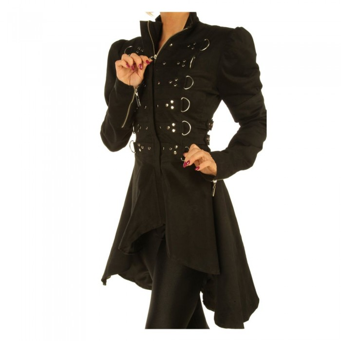 Women Steampunk D-ring Coat Ladies Top Gothic Jacket
